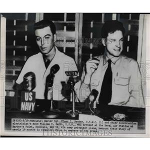 1950 Press Photo POWs Elmer C. Bender, William C. Smith in Press Conference