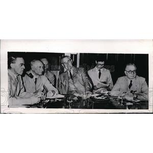1946 Press Photo Members of British Cabinet Mission to India are hard at work