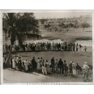 1935 Press Photo Maureen Orcutt at 1st tee Miami Biltmore womens golf