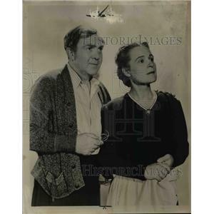 1944 Press Photo Thomas Mitchell & Selena Royale Actress - nee69768
