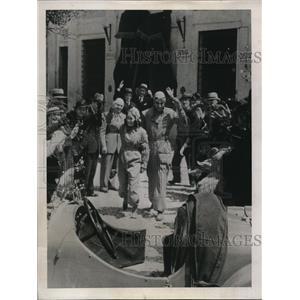 1939 Press Photo Rome Italy Alberto Perry Pastorel, Adriana Coltellacci racers