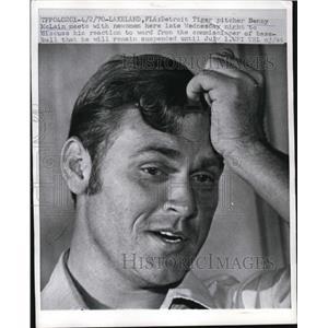 1970 Press Photo Detroit Tiger pitcher Benny McLain on suspension in Florida