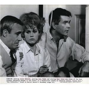 1967 Press Photo Warner Brothers presents Any Wednesday with Jane Fonda, Jason