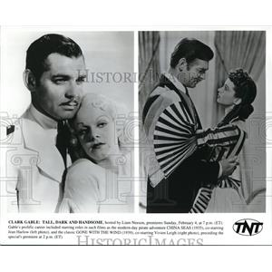 Undated Press Photo Clark Gable Jean Harlow China Seas movie and Vivien Leigh