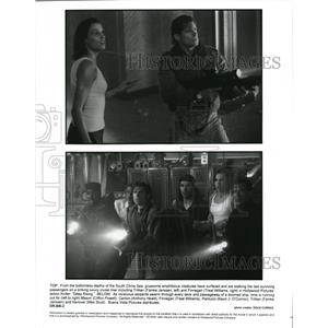 Undated Press Photo Farnkle Janssen Treat Williams Deep Rising - cvp39527