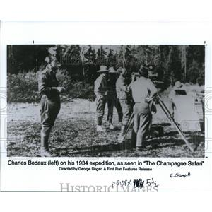 1997 Press Photo Charles Bedaux in The Champagne Safari - cvp37522