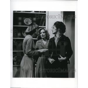1977 Press Photo Katherine Glass Katheryne Breech J. Zeman on One Life to Live