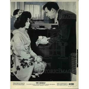 1952 Press Photo Yues Montand and Shirley MacLaine in My Geisha - cvp35583