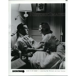 1986 Press Photo Ray Milland and Gene Tierney star in Close to my Heart