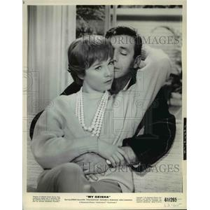 1964 Press Photo Shirley MacLaine and Yves Montand in My Geisha - cvp35596