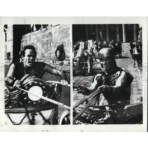 1971 Press Photo Charleston Heston Stephen Boyd In Ben Hur - cvp30826