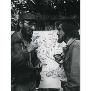 1969 Press Photo Jack Palance and Omar Sharif star in Che! - cvp37840