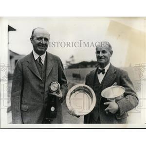 1935 Press Photo Robert W Smith, Harold Buckminster Sr Golf Tournament in NC