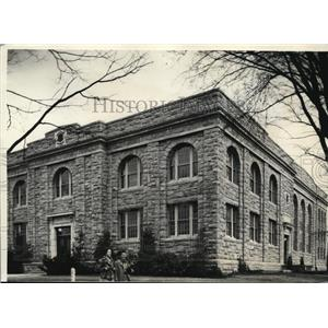 1936 Press Photo Edwards Hall Complete with Grant at Rhode Island State College