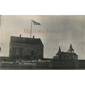 1924 Press Photo The Mission & Parsonage at Point Barrow Alaska