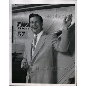 1951 Press Photo Lefty Joe Page at Kansas City farm club of Yankees - nes36531