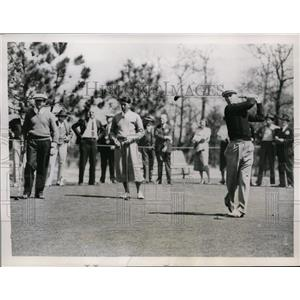 1934 Press Photo Denny Shute, Henry Picard, Ed Dudley at North & South golf