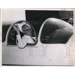1963 Press Photo Barry Goldwater in a jet plane - cva98953