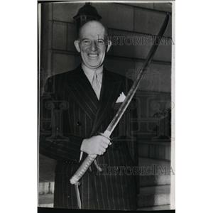 1942 Wire Photo Francis B.Sayre Brought a Japanese Sword for Pres.Roosevelt