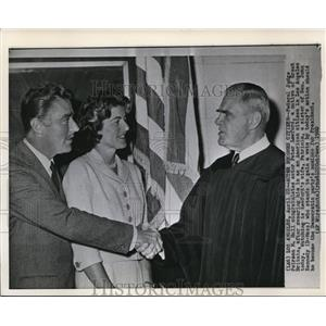 1960 Wire Photo Federal Judge Peirson M Ha.. congratulates Actor Peter Lawford.