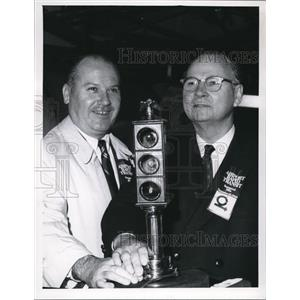 1968 Press Photo George J Grabner and Alan Lowe Rapid Transit CTS Airport Ext