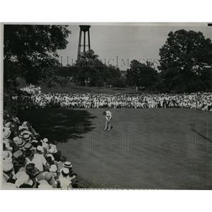 1933 Press Photo Ralph Guldahl, Johnny Goodman in Omaha Amateur golf - nes40180