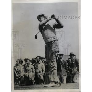 1934 Press Photo George T Dunlap vs GD Hannay in British Amateur golf