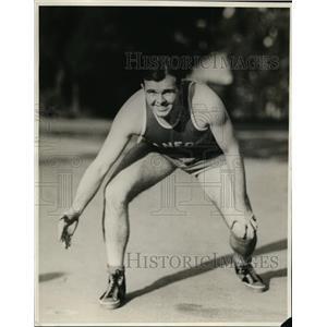 1939 Press Photo Stanford guard John Hancock on basketball court - nes39681