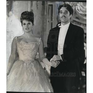 1963 Press Photo Kerwin Mathews and Senta Berger in The Waltz King - orx03993