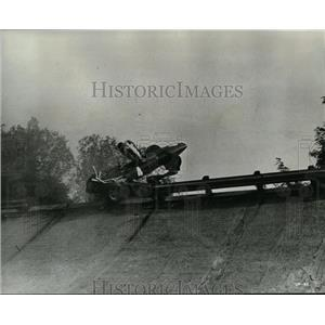 1967 Press Photo Yves Montand loses control of car in Grand Prix movie