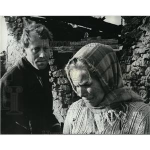 1969 Press Photo Max Von Sydow and Liv Ullman in Shame - orx02608