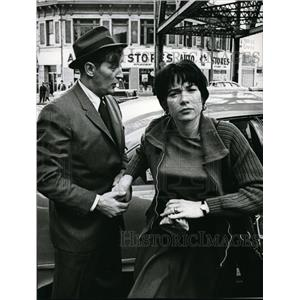 "1957 Press Photo Robert Mitchum and Shirley MacLaine in ""Two for the See-Saw"""