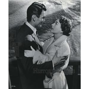 1952 Press Photo Jack Palance And Joan Crawford In Sudden Fear - orx01416