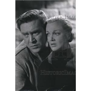 1956 Press Photo Edmund O'Brien And Jan Sterling In Columbia's 1984 - orx01054