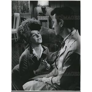 1962 Press Photo Geraldine Page And Laurence Harvey At Irvington In Lloyd Center