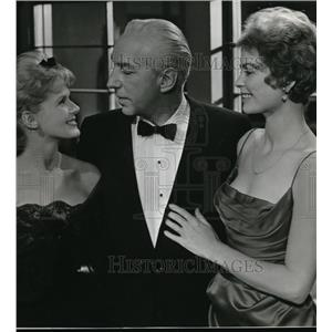 1961 Press Photo Lloyd Nolan, Connie Stevens & Dorothy Malone in Susan Slade