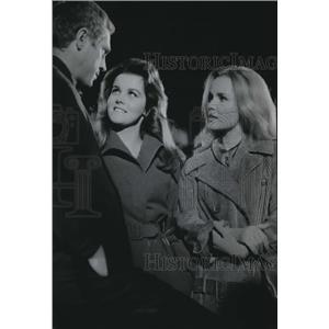 1965 Press Photo Steve McQueen Ann Margaret & Tuesday Weld in The Cincinnati Kid