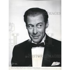 1953 Press Photo Rex Harrison wearing a 3-piece suit - orx00458