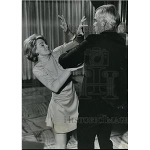 1967 Press Photo Lee Marvin and Angie Dickinson in Point Blank