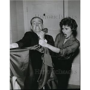 1960 Press Photo Cara Williams and Harry Morgan