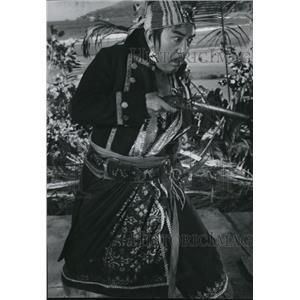 1969 Press Photo Sessue Hayakawa plays pirate in Wat Disney's new classic
