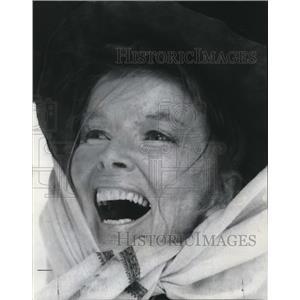 1974 Press Photo Katherine Hepburn star in True Girl sequel, Rooster Cogburn