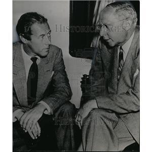 1948 Press Photo Rex Harrison and Coroner Ben Brown