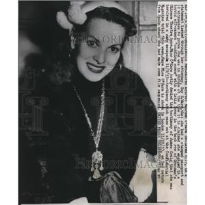 1957 Press Photo Maureen O'Hara Confidential Magazine Libel Trial