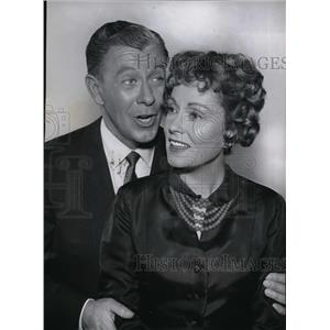 1960 Press Photo George Murphy and Martha Scott