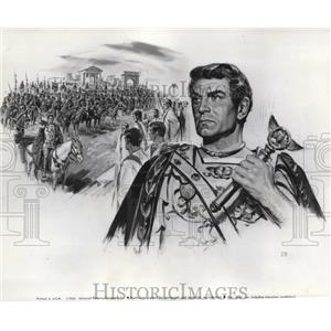 1961 Press Photo Sir Laurence Olivier stars in Spartacus