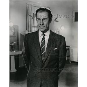 1958 Press Photo Rex Harrison in Constant Husband