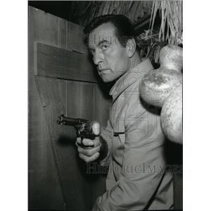 1966 Press Photo George Montgomery in I Spy