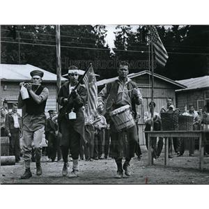 1967 Press Photo Great Escape Steve McQueen, Jud Taylor, James Garner