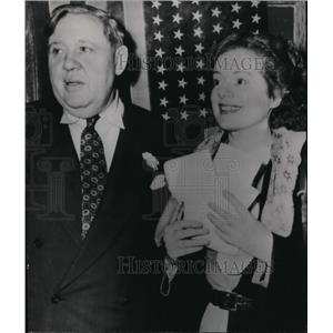 1950 Press Photo Actor Charles Laughton and his actress wife, Elsa Lanchester